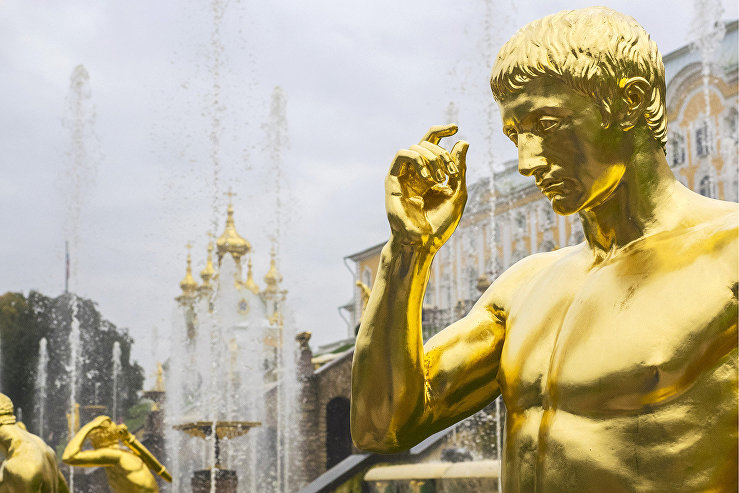 The Grand Cascade fountains of the State Peterhof Museum Reserve