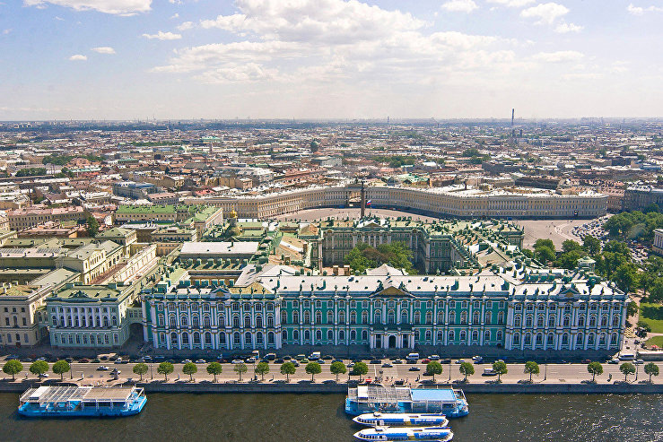 A view of the Winter Palace and Palace Square