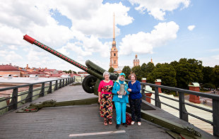 Cannon in Peter and Paul Fortress fires in honor of UEFA EURO 2020 volunteers