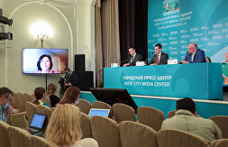 News conference on St. Petersburg hotels and restaurants' operations during the 2020 UEFA European Football Championship