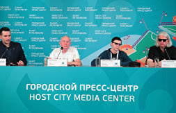News conference on the 40th anniversary of the Leningrad Rock Club