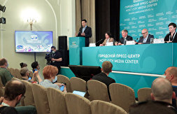 News conference on social and charity initiatives of the EURO 2020 Local Organizing Committee in St. Petersburg