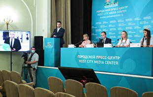 News conference on the implementation of the Sport: A Way of Life federal project as part of the Demography national project